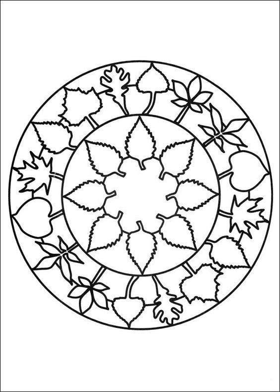 Disegni da Colorare Mandalas 66