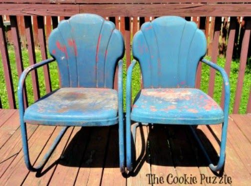 Painting Metal Chairs With Chalk Paint Part 87