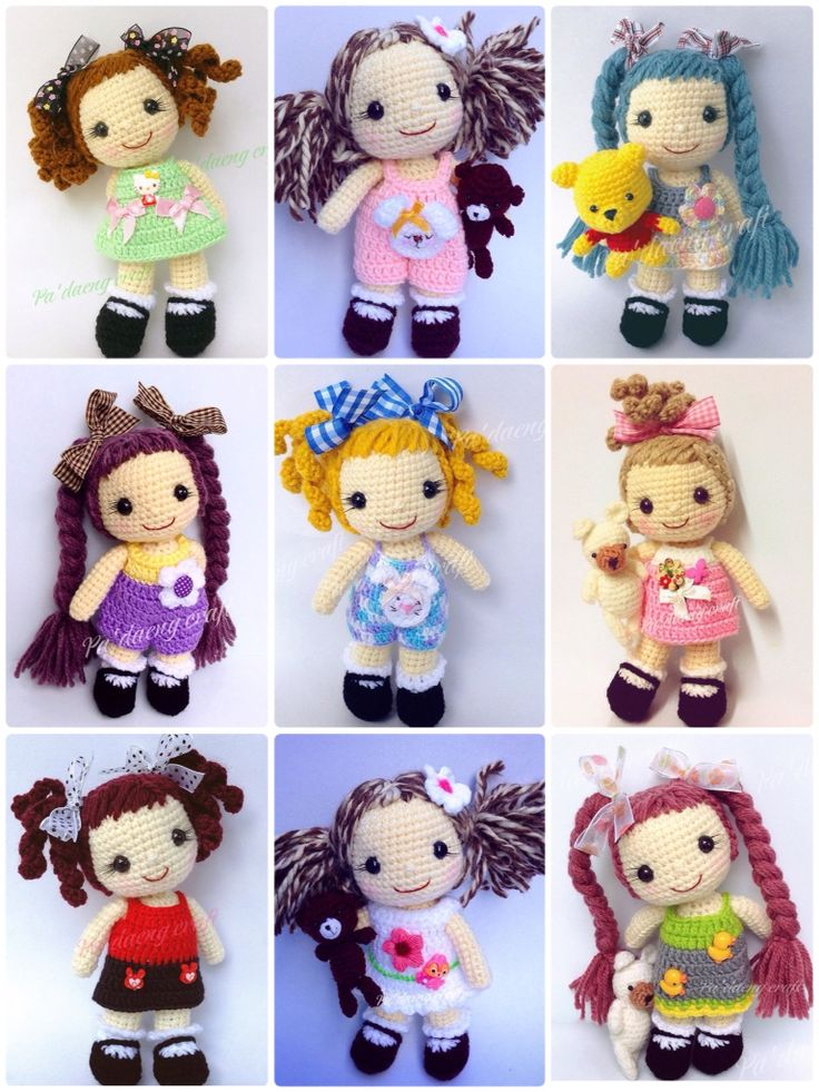 Crochet doll collection. (Inspiration).