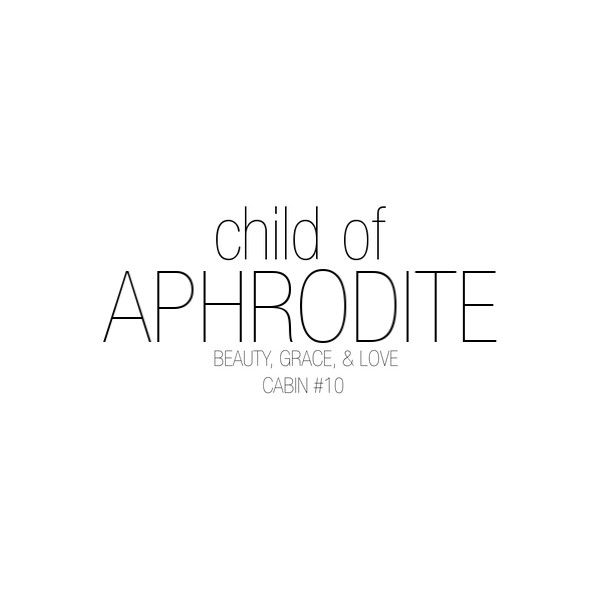 Aphrodite - Cabin #10 - Percy Jackson ❤ liked on Polyvore
