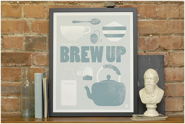 Brew Up | Prints | Keep Calm Gallery: Tea Time, Calm Gallery, Laura Seaby, Brew, Illustration, Art, Keep Calm, Kitchen