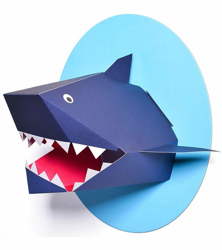 картинки акула схемы из бумаги множество