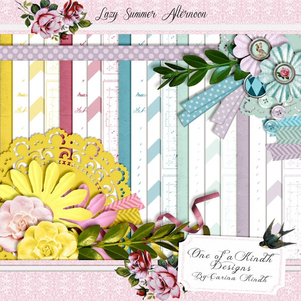 Lazy summer afternoon scrapbooking kit