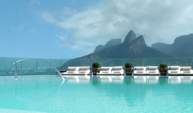 A pool with a striking view from Fasano Rio de Janeiro in Brazil.