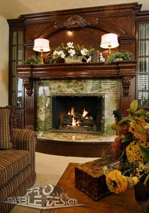 marble onyx fireplace