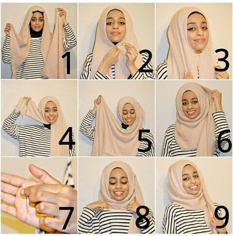 Daily Hijab Tutorial- in Only 9 Steps