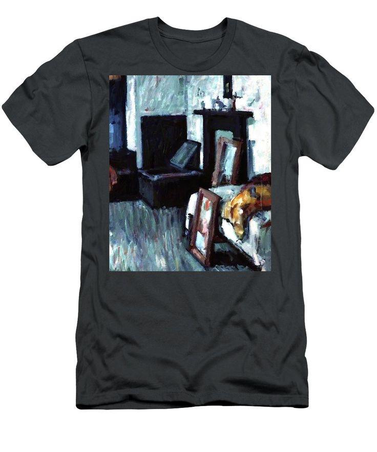 Studio Men's T-Shirt (Athletic Fit) featuring the painting Studio Interior by Peploe Samuel