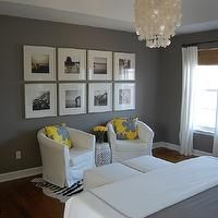 bedrooms - yellow and gray bedroom, gray and yellow bedroom, gray and yellow bedrooms, yellow and gray bedroom design, tray ceiling, yellow ...