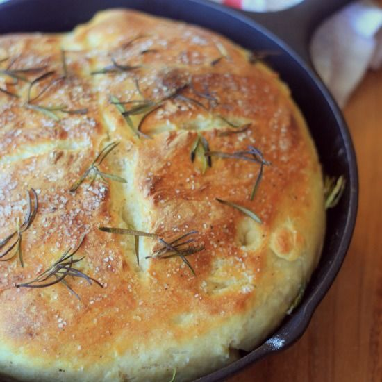 Easy No-Knead Skillet Bread, - need to try because my daughter says I make amazing food except bread!!