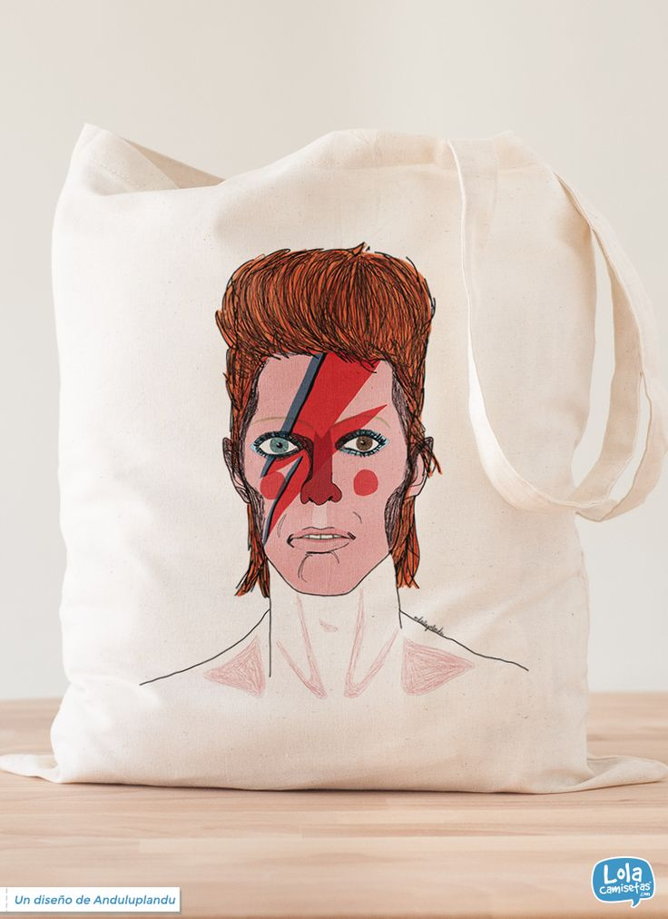 David Bowie, diseño de Anduluplandu #ToteBag