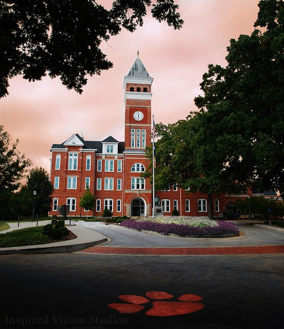 Tillman Hall and the Paw at Clemson University. by Inspired Vision Studios