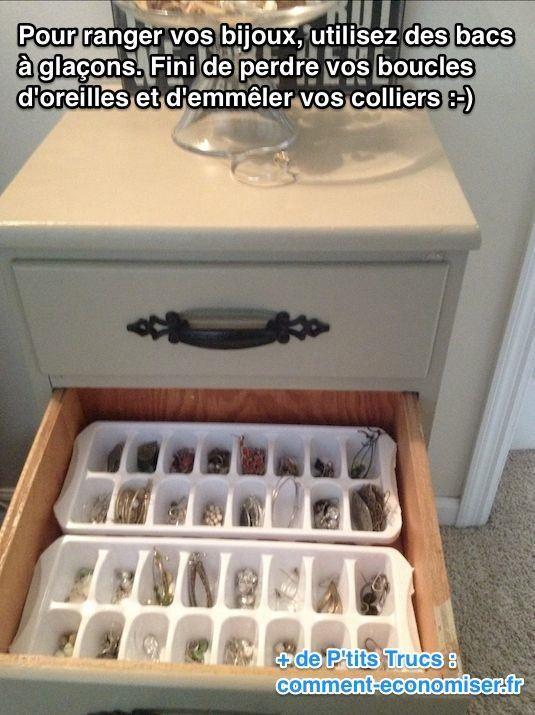 Vous cherchez un rangement pour vos bijoux ? En voici un fait-maison que vous allez adorer ! Fini de perdre vos boucles d'oreilles, et d'emmêler vos colliers et bracelets :-) Découvrez l'astuce ici : http://www.comment-economiser.fr/rangement-bijoux-fait-maison.html?utm_content=buffer52606&utm_medium=social&utm_source=pinterest.com&utm_campaign=buffer