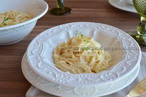 Espaguete ao molho de 3 queijos   Receitas e Temperos