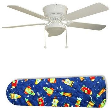 "Rocket Race Outer Space 52"" Ceiling Fan with Lamp - eclectic - Ceiling Fans - New Image Concepts"