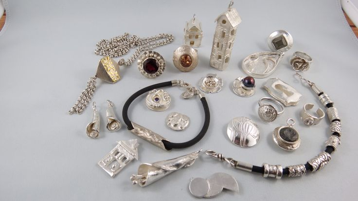 Precious Metal Clay pieces. Fine Silver. All made by me.