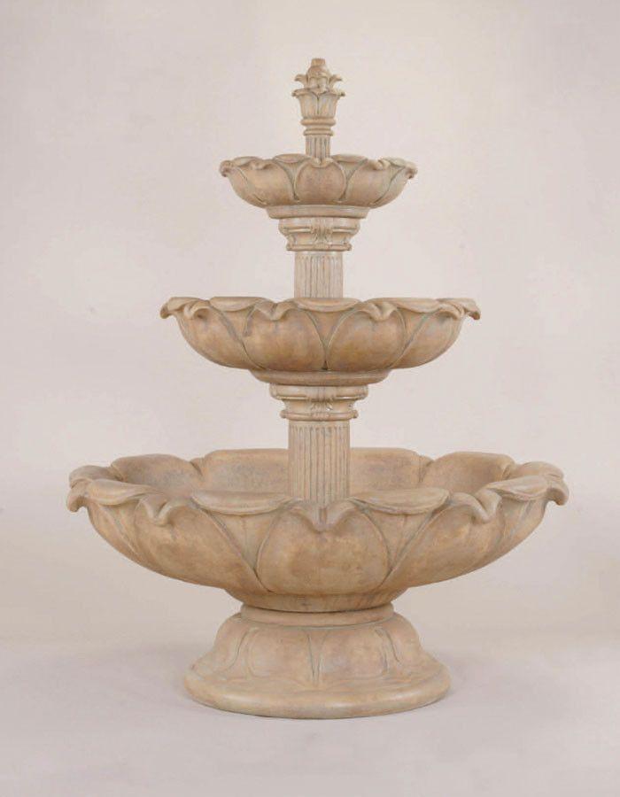 Acquarossa Three Tier Fountain Short By Giannini Garden Ornaments