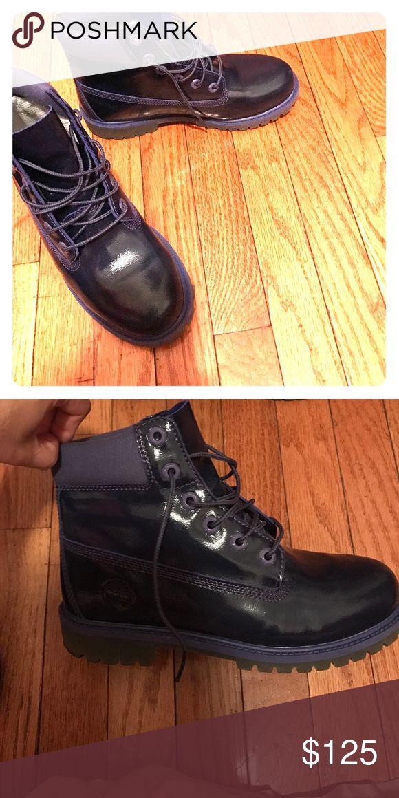 Timberlands boots PURPLE ( GradeSchool 6) Kids 6. Like New No Flaws. PURPLE ! Timberland Shoes Boots
