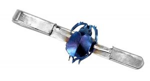 Beetle tie bar made out of a single sheet of titanium - $220