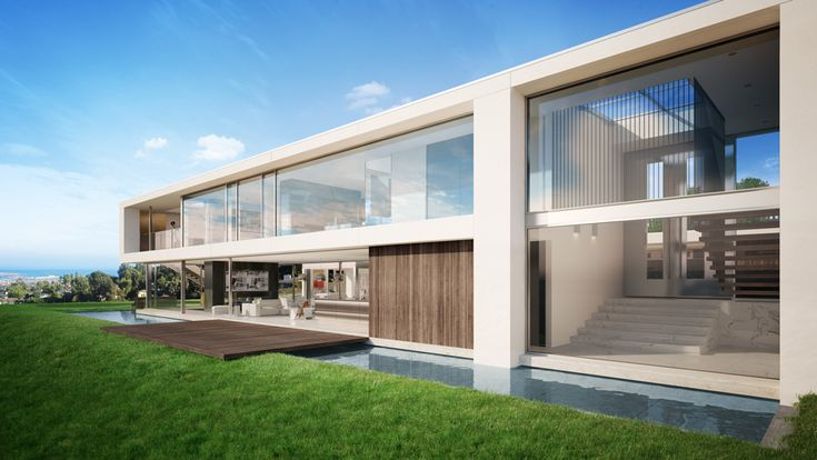 Architectural visualization of a luxury house in Palos Verdes, Los Angeles