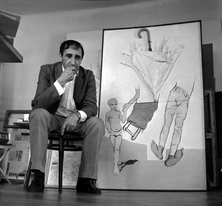 Tadeusz Kantor w pracowni, 1973, Kraków, fot. Aleksander Jarosiński