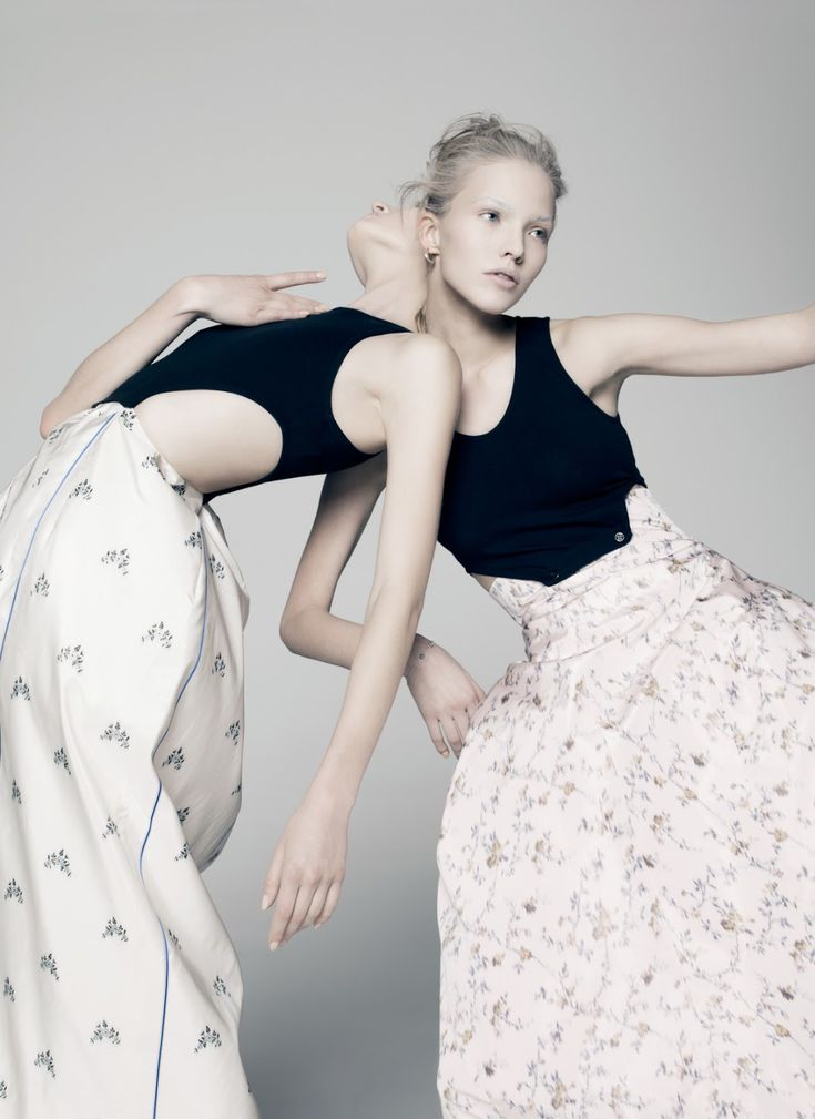 Sasha Luss And Daria Strokous by Pierre Debusschere For V #94 Spring 2015