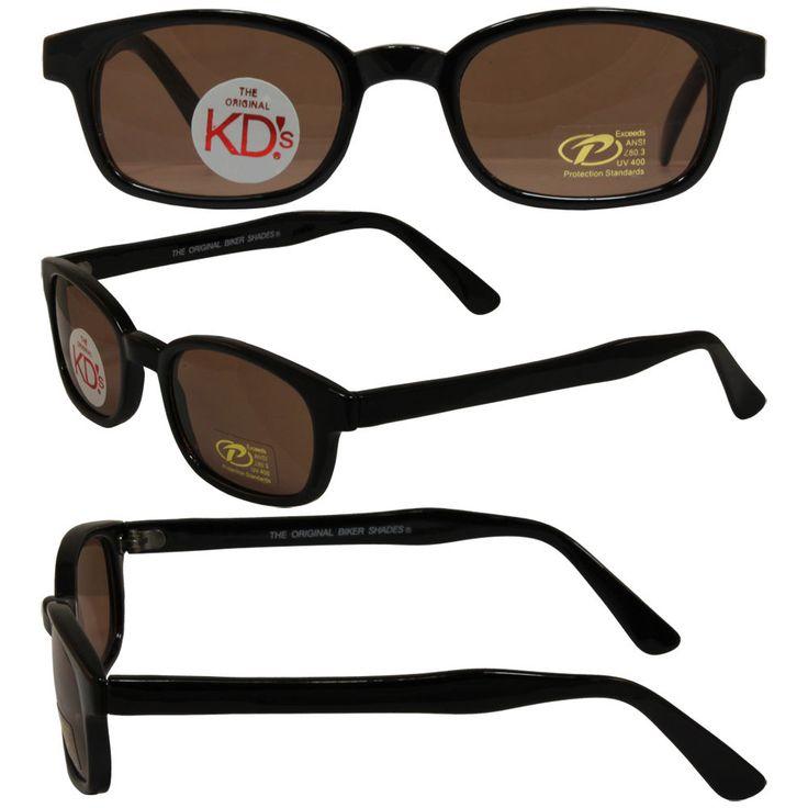 Original KD's Biker Sunglasses with Dark Brown Lenses #KDs