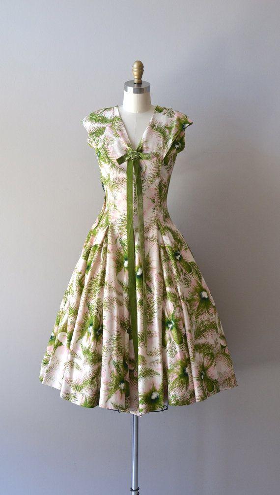 vintage 1950s silk dress