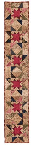 Double Stars quilt row designed by Barbara Brackman