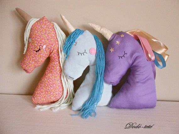 Unicorn pillow unicorno cuscino home decor cameretta by Dodotete