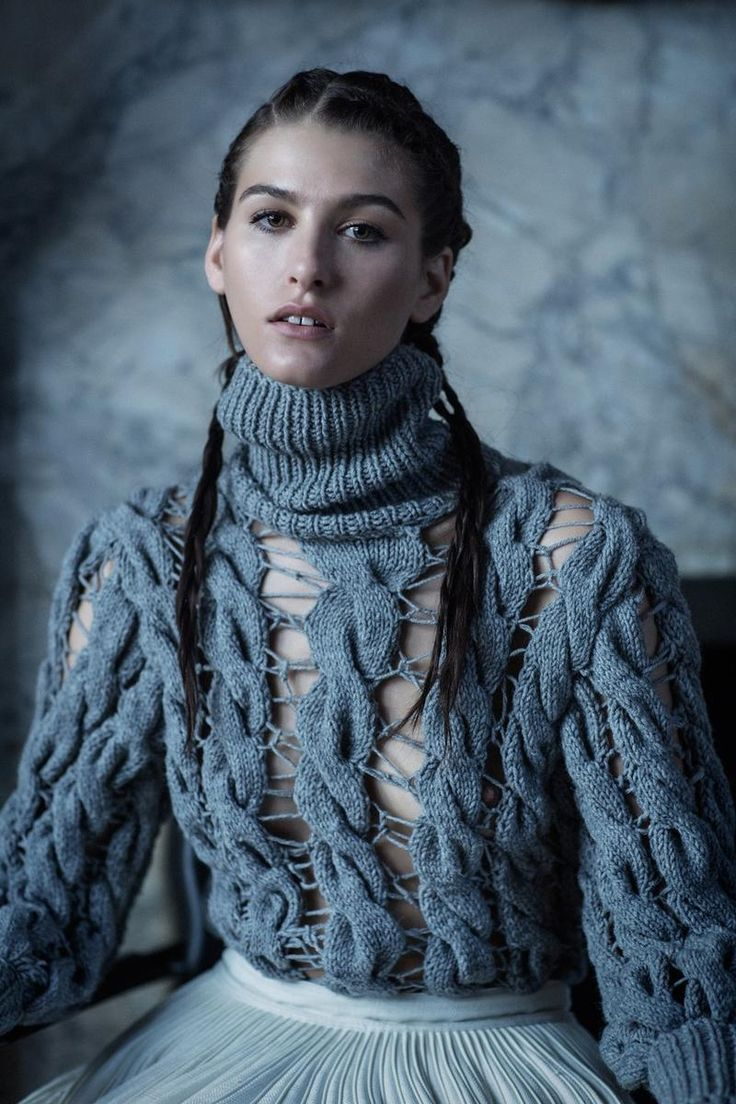 The Wild Magazine - KTZ couture art fashion cable knit jumper design scandi chic edgy style en trend 2015