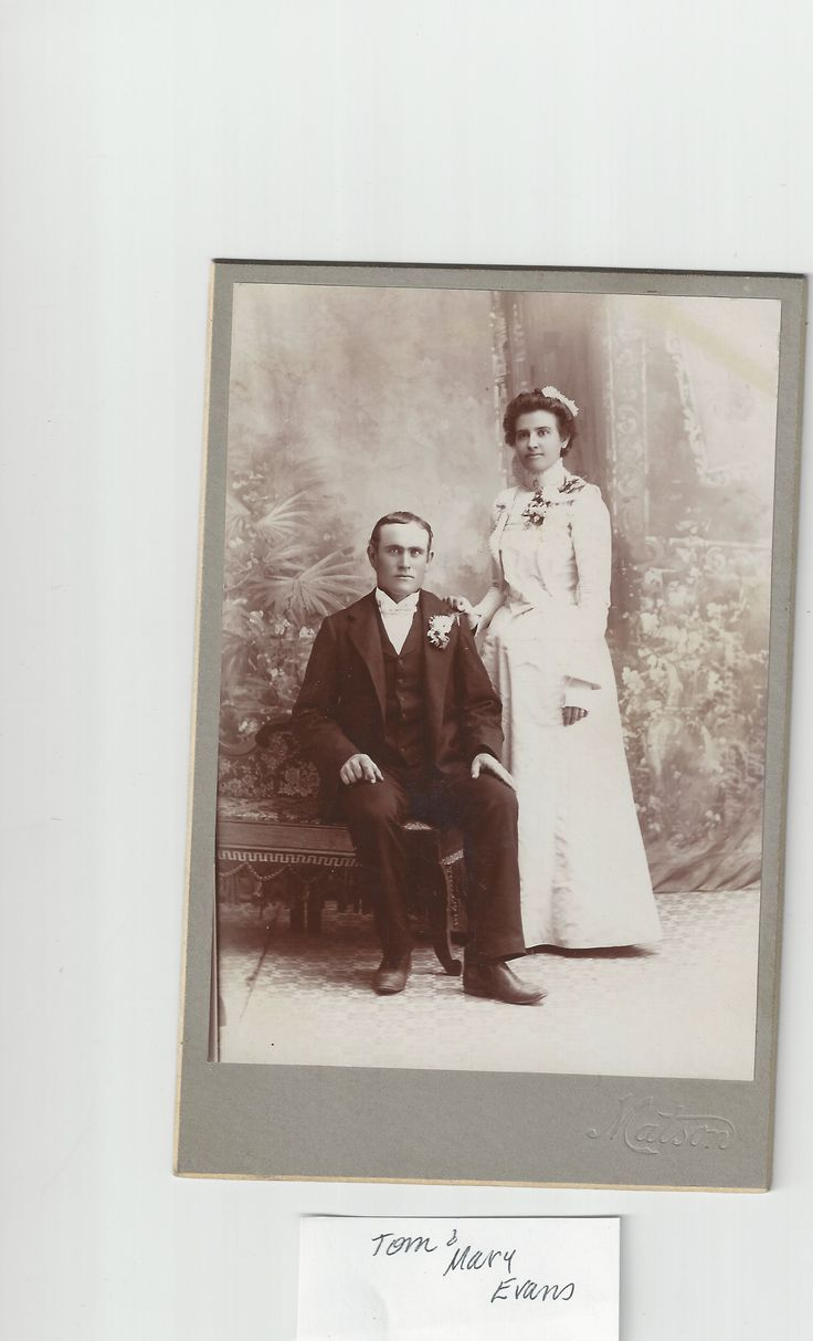 Thomas Hardcastle Evans And Mary Augusta Nelson