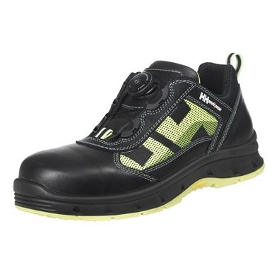 It's 2015 & yet no self-tie laces (yet), but there's no need as this clever shoe does away with the need to tie them! The Helly Hansen 78209 Oslo Boa safety shoe features a unique twist dial at the front to tighten and loosen them. Try these on Mr McFly! ;-)