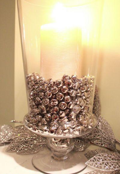 Super Easy DIY Christmas Decor Ideas - Jingle Bells Vase Filler