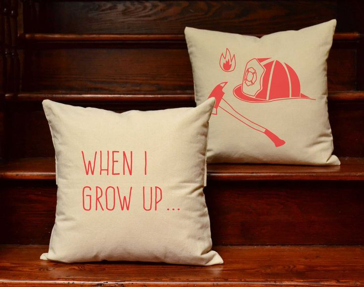 I Want To Be A Fireman Throw Pillows
