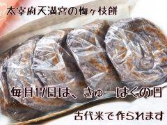 毎月17日はきゅーはくの日梅ヶ枝餅が古代米で作られるので生地が少し赤みがかっているとのこと  2015/10/17に九州国立博物館10周年を記念して作られたものがとても好評だったため毎月17日に販売されるようになったそうです  もちもちしててすっごく美味しかったです私はこの古代米の梅ヶ枝餅の方が好きです  #太宰府天満宮 #名物 #つぶあん #梅ヶ枝餅 #古代米 #毎月17日 #きゅーはくの日 #参拝 #茶房きくち #2月17日 tags[福岡県]