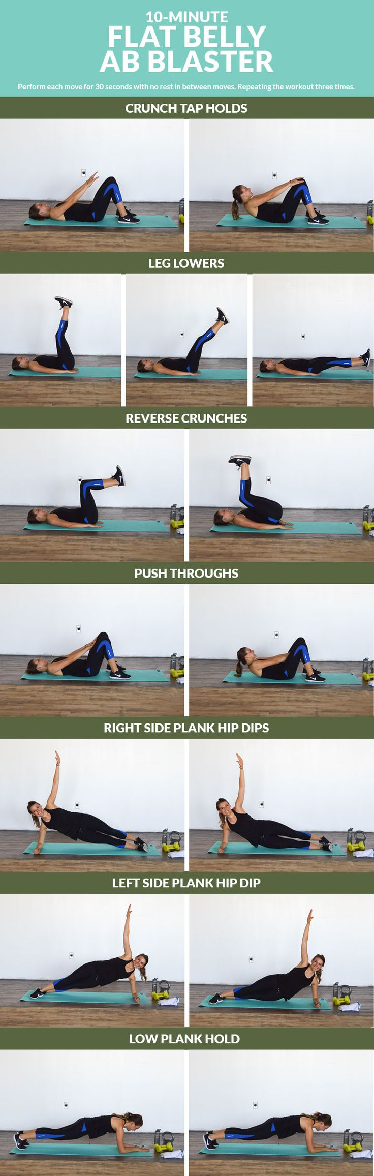 Flat Belly Ab Blaster - Work on that six pack with these 7 moves to tone and tighten your tummy!