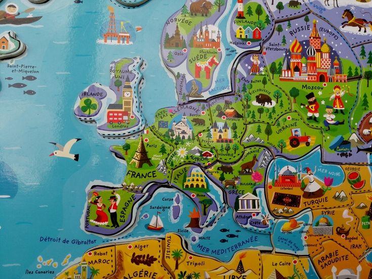 Поиграем? География, Даше 3+. Магнитная карта мира Janod. от пользователя «Udivitelnoye_ryadom» на Babyblog.ru