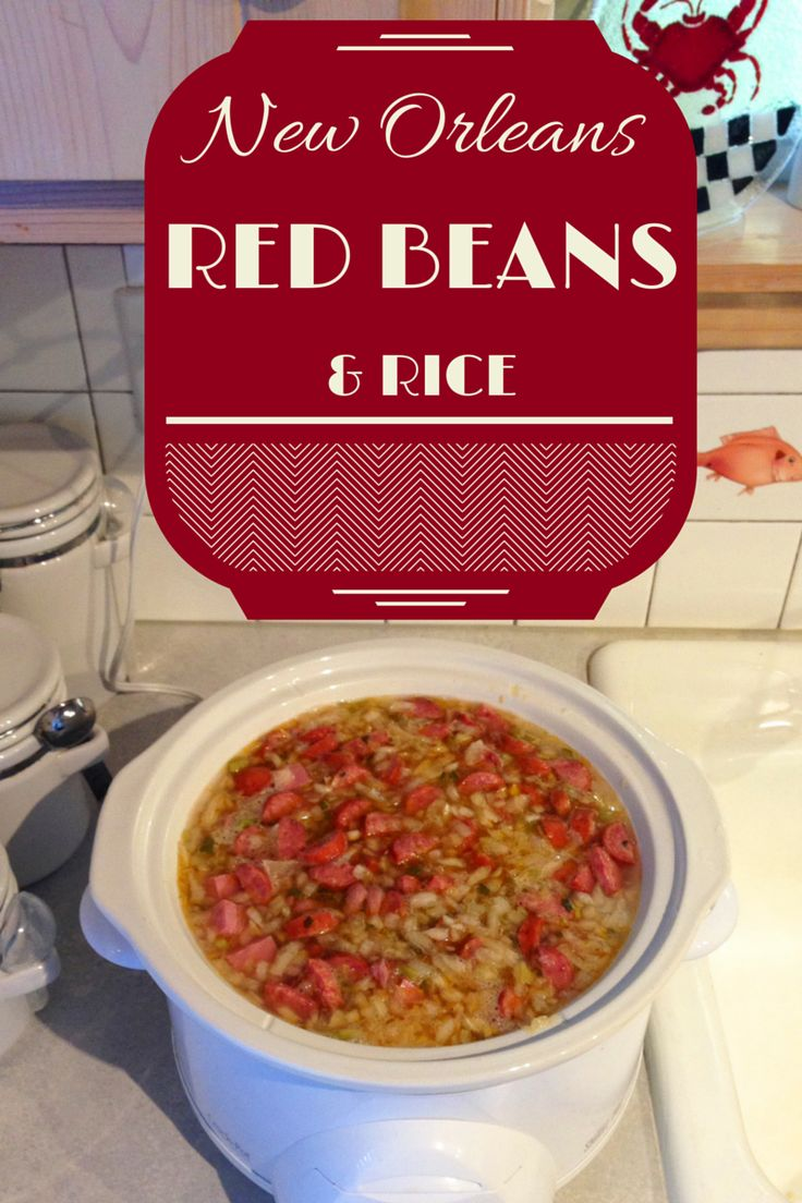 New Orleans Red Beans and Rice Recipe http://www.girl-organized.com/manic-monday-red-beans-rice-recipe/