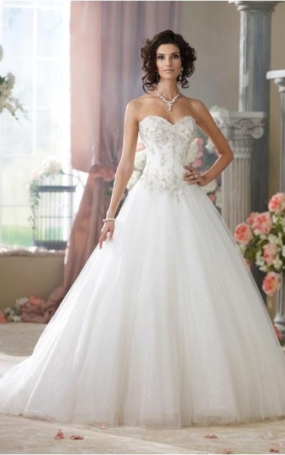 Ball Gown Sweetheart Empire Sleeveless Floor-length Wedding Dresses wds0158