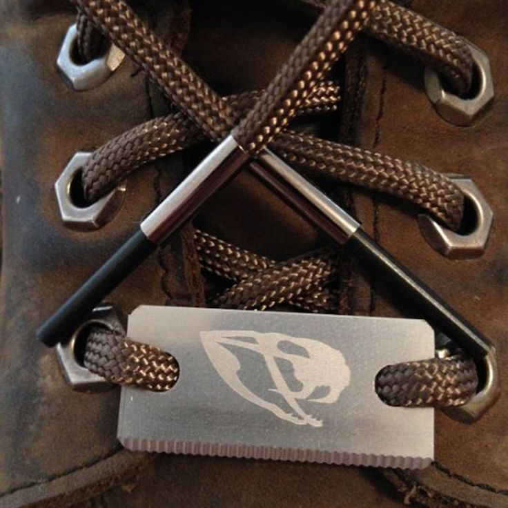 Wilderness Survival Emergency Fire Starter Hiking Boot Laces