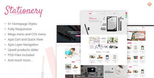Stationery Responsive Magento Office Supplies Theme Stylelib Magento Themes Prestashop Themes Ecommerce Website Template