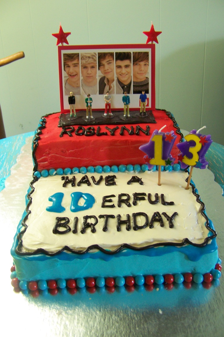 One Direction cake for Roslynn's 13th