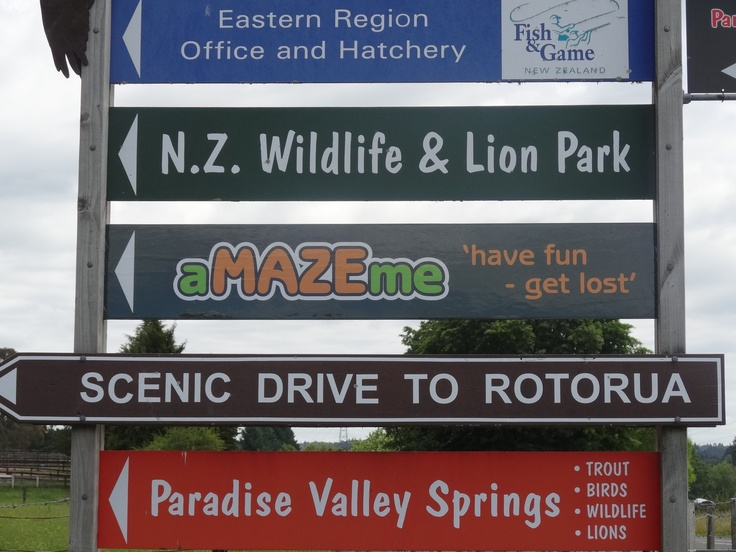 Only 10 minutes drive out of Rotorua...1335 Paradise Valley Road  http://www.amazeme.co.nz/