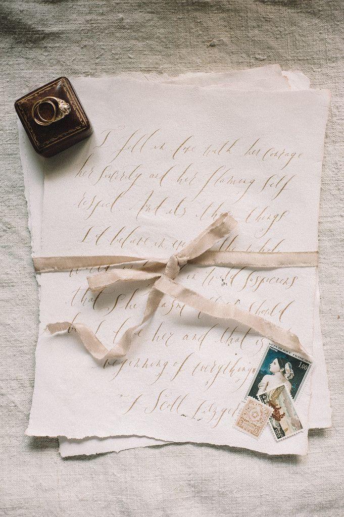 Signora E Mare wedding invitation with calligraphy