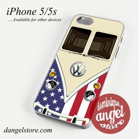 american vw retro bus Phone case for iPhone 4/4s/5/5c/5s/6/6 plus