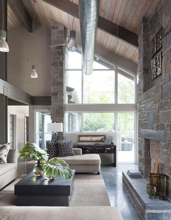 .Striking but Restful Living Room