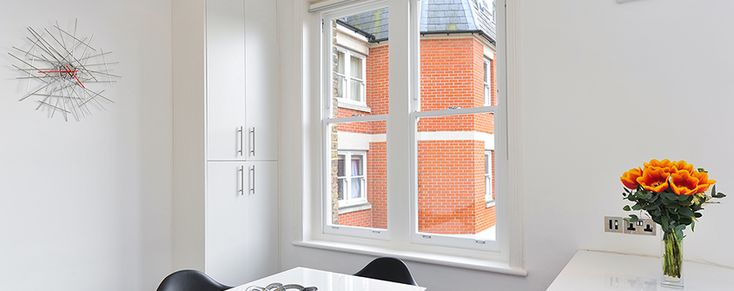 New sashes into existing frames, London. The Sash Window Workshop