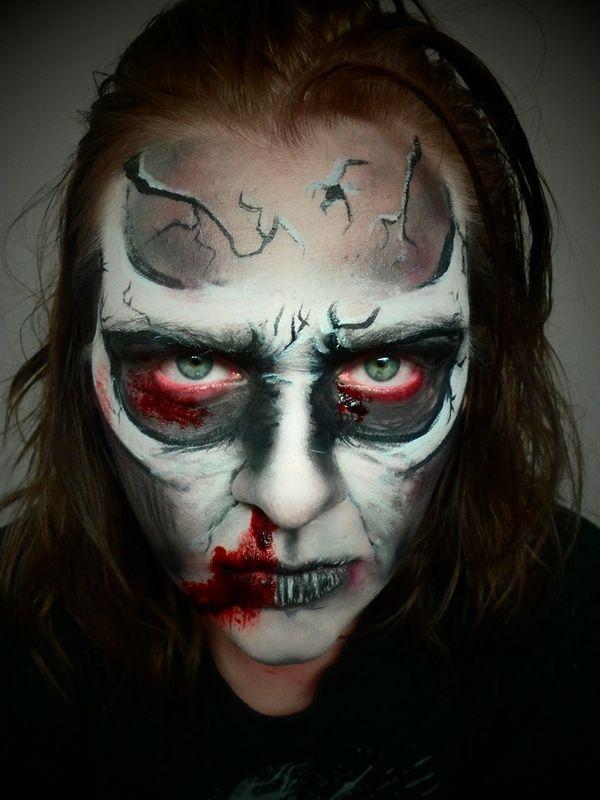 animated cartoon zombie demon skull makeup - Zombie Halloween Faces