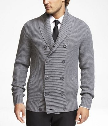 Love the cardigan: Doublebreast Ribs, Doublebreast Cardigans, Expressions Doublebreast, Double Breast Cardigans, New Years Outfits For Men, Collars Cardigans, Men Doublebreast, Cardigans Gray, Entir Outfits