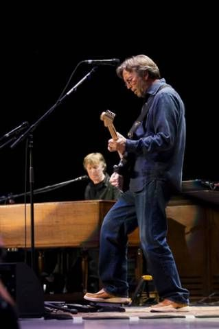 Eric Clapton & Steve Winwood (I think this is from their Madison Square Garden concert together, which is on dvd and cd at the local library, btw....)